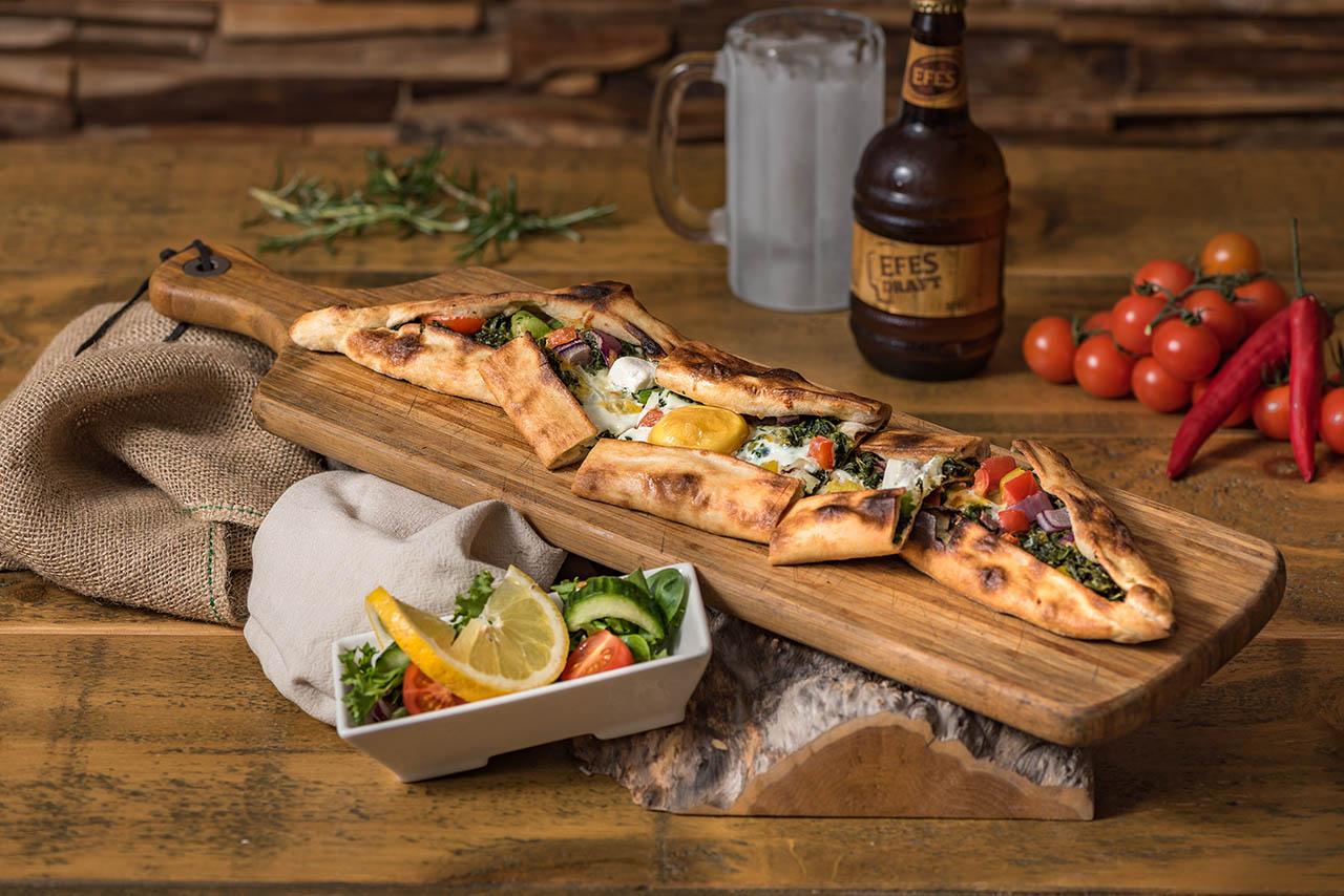 Food Photography, Pide, Turkish Food, Turkey, Bevan Cockerill, Olive Branch, Turkish Restaurant